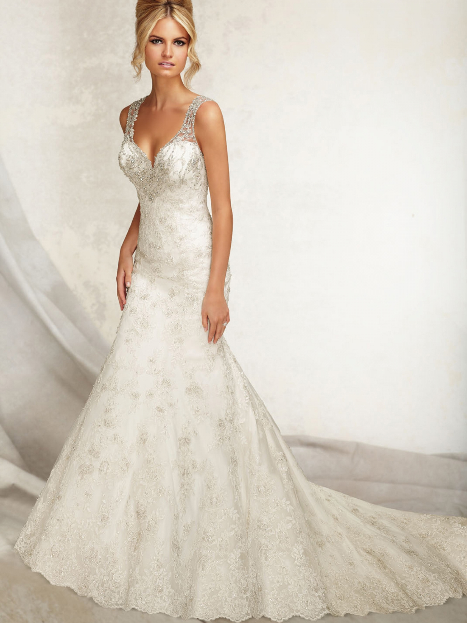 Ven anice for Super low back wedding dress